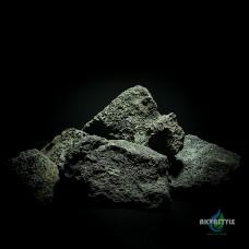 Вулканическая лава черная