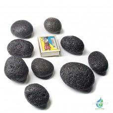 Галька из вулканической лавы(черная)